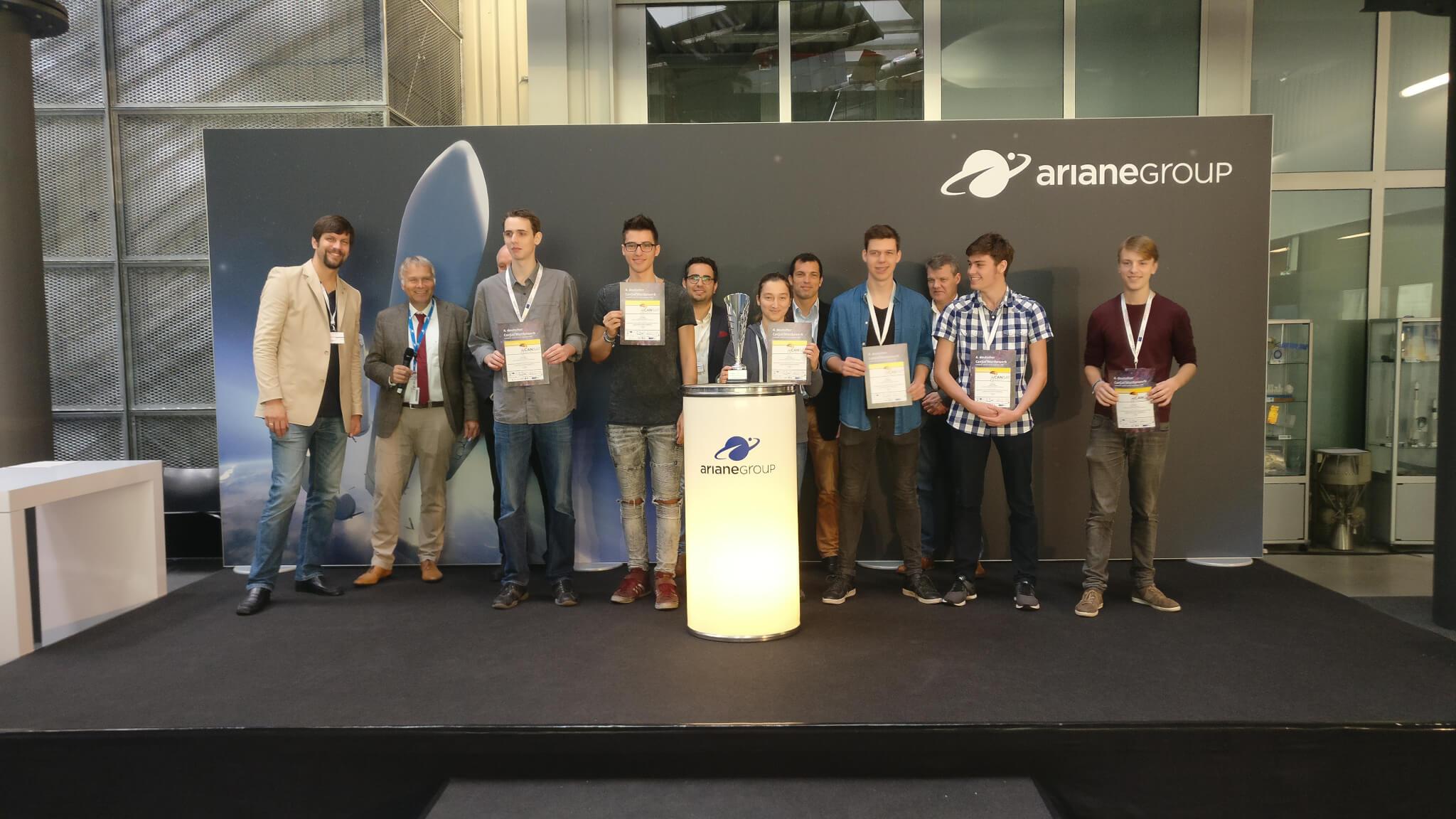Siegerehrung des deutschen CanSat Wettbewerbs